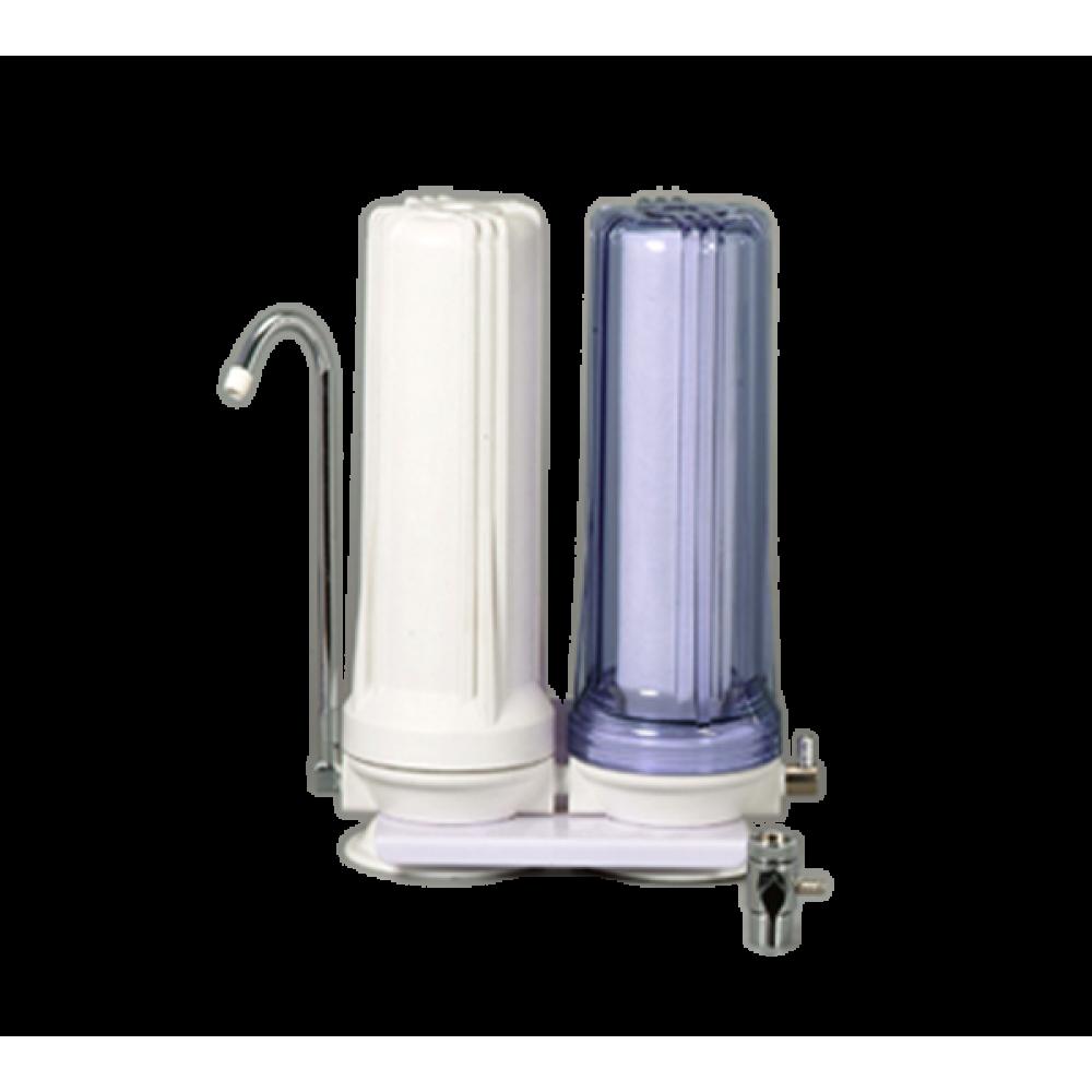 دستگاه تصفیه آب خانگی دو مرحله ای رومیزی LAN SHAN مدل W2