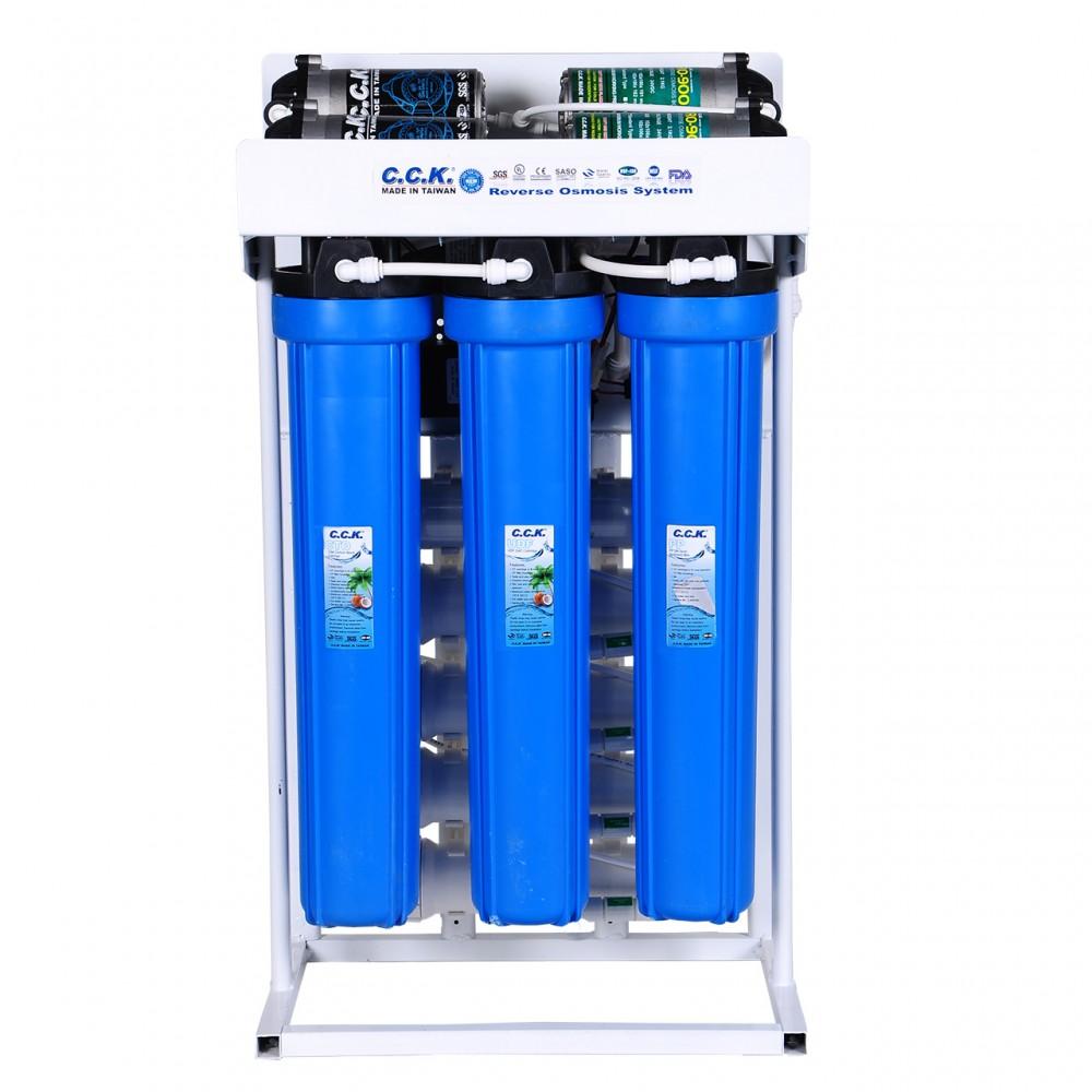 دستگاه تصفیه آب نیمه صنعتی CCK با ظرفیت 400 گالن در شبانه روز
